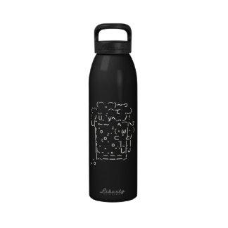 Arte japonés cerveza del ASCII Botella De Beber