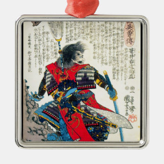 Arte japonés clásico oriental fresco del guerrero ornamentos de reyes