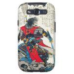 Arte japonés clásico oriental fresco del guerrero  galaxy s3 carcasas