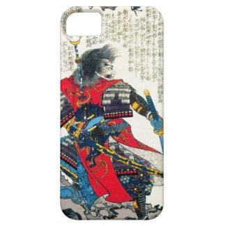 Arte japonés clásico oriental fresco del guerrero funda para iPhone SE/5/5s