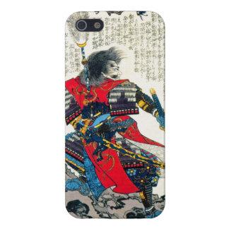 Arte japonés clásico oriental fresco del guerrero iPhone 5 carcasa