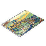 Arte japonés de Hokusai 17/100 ciento poemas Fuji Libro De Apuntes Con Espiral