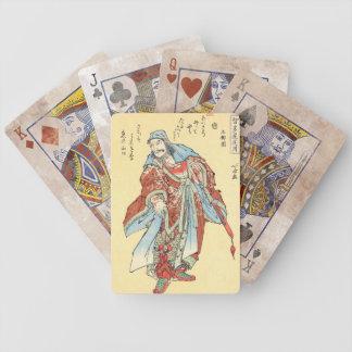 Arte japonés de Hokusai del tatuaje del bosquejo d Baraja