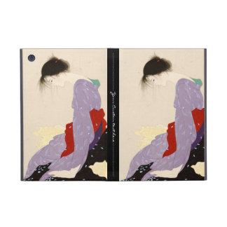Arte japonés de la mujer de la letra de amor de Na iPad Mini Funda