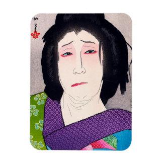 Arte japonés de la mujer del woodprint oriental fr iman flexible