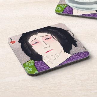 Arte japonés de la mujer del woodprint oriental fr posavaso