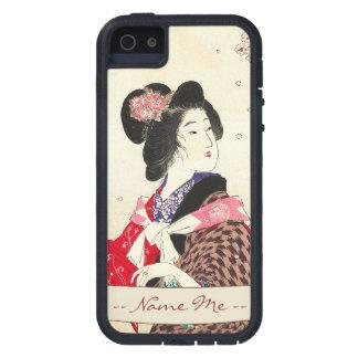 Arte japonés de la señora de la mujer de Suzuki Funda iPhone SE/5/5s