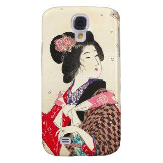 Arte japonés de la señora de la mujer de Suzuki Ka Funda Para Galaxy S4