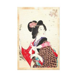 Arte japonés de la señora de la mujer de Suzuki Ka Impresiones En Lona Estiradas