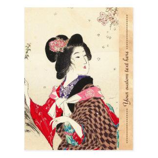 Arte japonés de la señora de la mujer de Suzuki Ka Postales