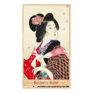Arte japonés de la señora de la mujer de Suzuki Ka Tarjetas De Visita