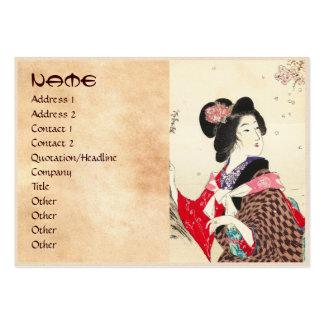 Arte japonés de la señora de la mujer de Suzuki Tarjetas De Visita Grandes