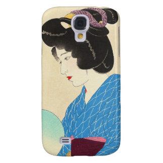 Arte japonés de la señora de Tasogare de la Funda Samsung S4