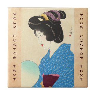 Arte japonés de la señora de Tasogare de la oscuri Tejas