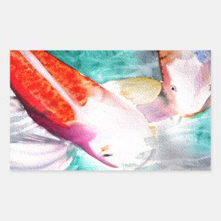 Arte japonés de los pescados del watercolour de