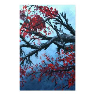 arte japonés de oriental del árbol de la flor de l papelería