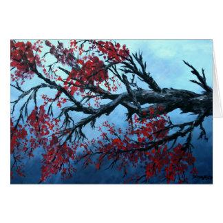 arte japonés de oriental del árbol de la flor de l tarjeta