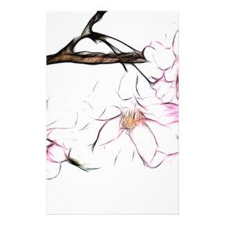 Arte japonés del fractal de la flor de cerezo que  papeleria