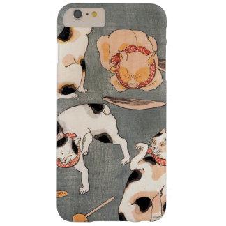 Arte japonés del gato del vintage funda para iPhone 6 plus barely there