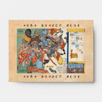 Arte japonés del geisha y del samurai del ukiyo-e