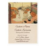 Arte japonés del oiran del ukiyo-e del vintage clá plantillas de tarjetas de visita