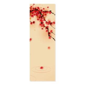 Arte japonés del otoño tarjeta de visita