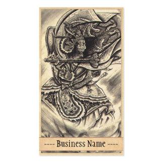 Arte japonés del tatuaje del demonio del vintage c tarjetas de visita
