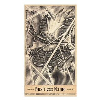 Arte japonés del tatuaje del demonio del vintage c plantillas de tarjeta de negocio