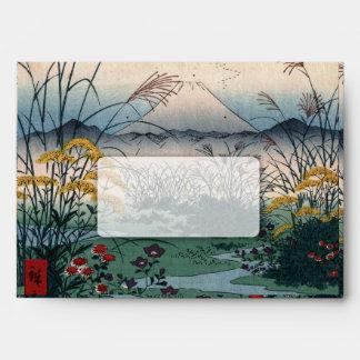 Arte japonés del vintage, el llano de Otsuki Sobres