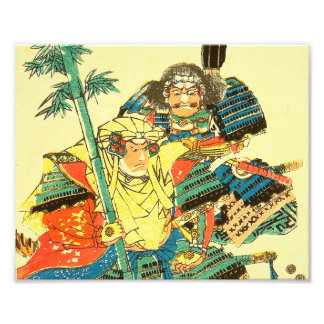 Arte japonés - dos samurais en armadura llena de fotografías