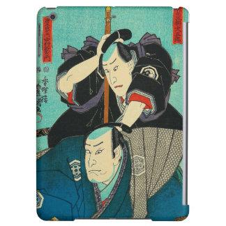 Arte japonés - dos samurais que espían en enemigos