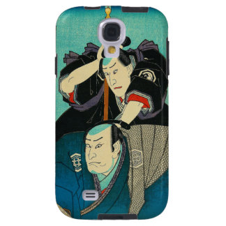 Arte japonés - dos samurais que espían en enemigos funda galaxy s4