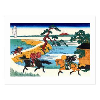 Arte japonés fino de Hokusai del río de Sumida de Postales