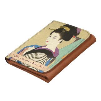 Arte japonés fresco de la obra clásica del geisha