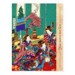 Arte japonés fresco de la señora del geisha del uk postal