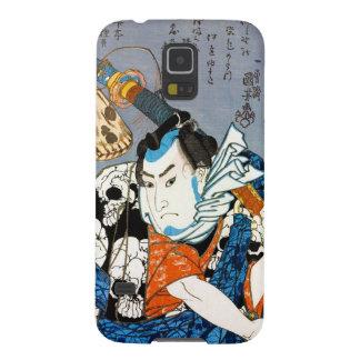 Arte japonés fresco del cráneo del samurai del carcasa galaxy s5
