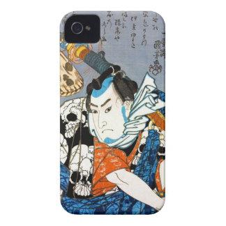 Arte japonés fresco del cráneo del samurai del carcasa para iPhone 4 de Case-Mate