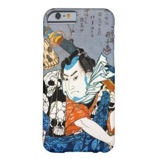Arte japonés fresco del cráneo del samurai del funda barely there iPhone 6