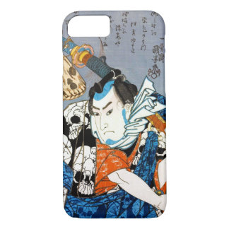 Arte japonés fresco del cráneo del samurai del funda iPhone 7