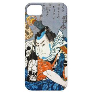 Arte japonés fresco del cráneo del samurai del funda para iPhone SE/5/5s
