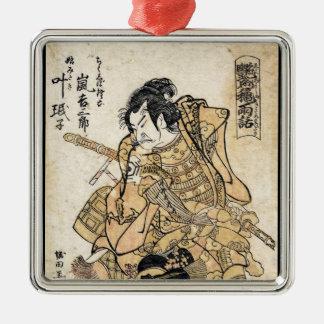 Arte japonés fresco del guerrero del samuraj del ornaments para arbol de navidad