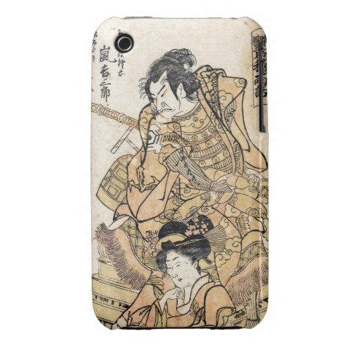 Arte japonés fresco del guerrero del samuraj del u Case-Mate iPhone 3 carcasas