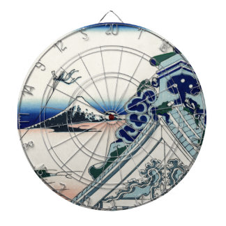 Arte japonés Fuji del vintage del templo de