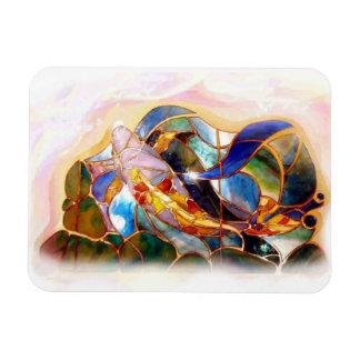 Arte japonés Mabnet flexible de los pescados de cr Iman De Vinilo