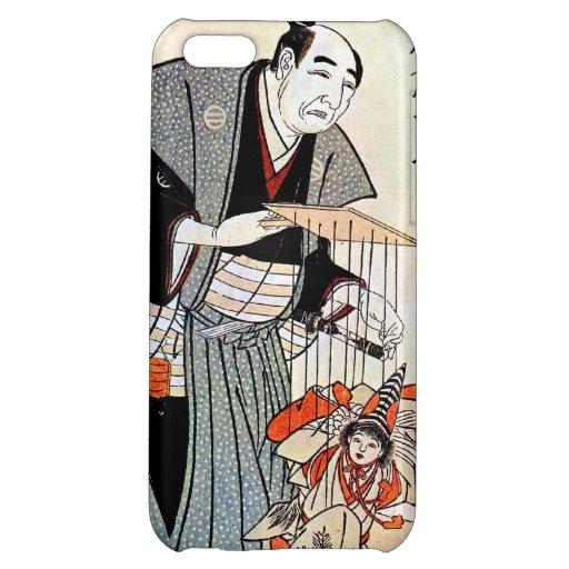 Arte japonés oriental clásico del ukiyo-e del titi