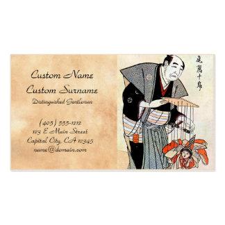 Arte japonés oriental clásico del ukiyo-e del titi tarjetas de negocios
