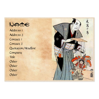Arte japonés oriental clásico del ukiyo-e del titi plantillas de tarjeta de negocio