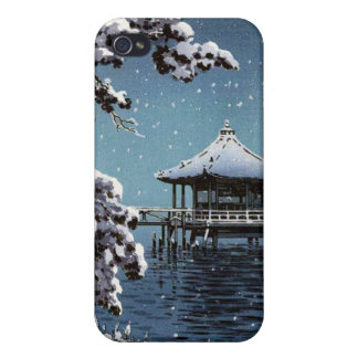 Arte japonés oriental fresco de la escena del invi iPhone 4 fundas