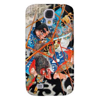 Arte japonés oriental fresco de la lucha del guerr samsung galaxy s4 cover