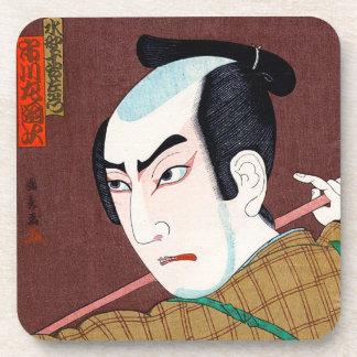 Arte japonés oriental fresco de la obra clásica de posavasos de bebidas